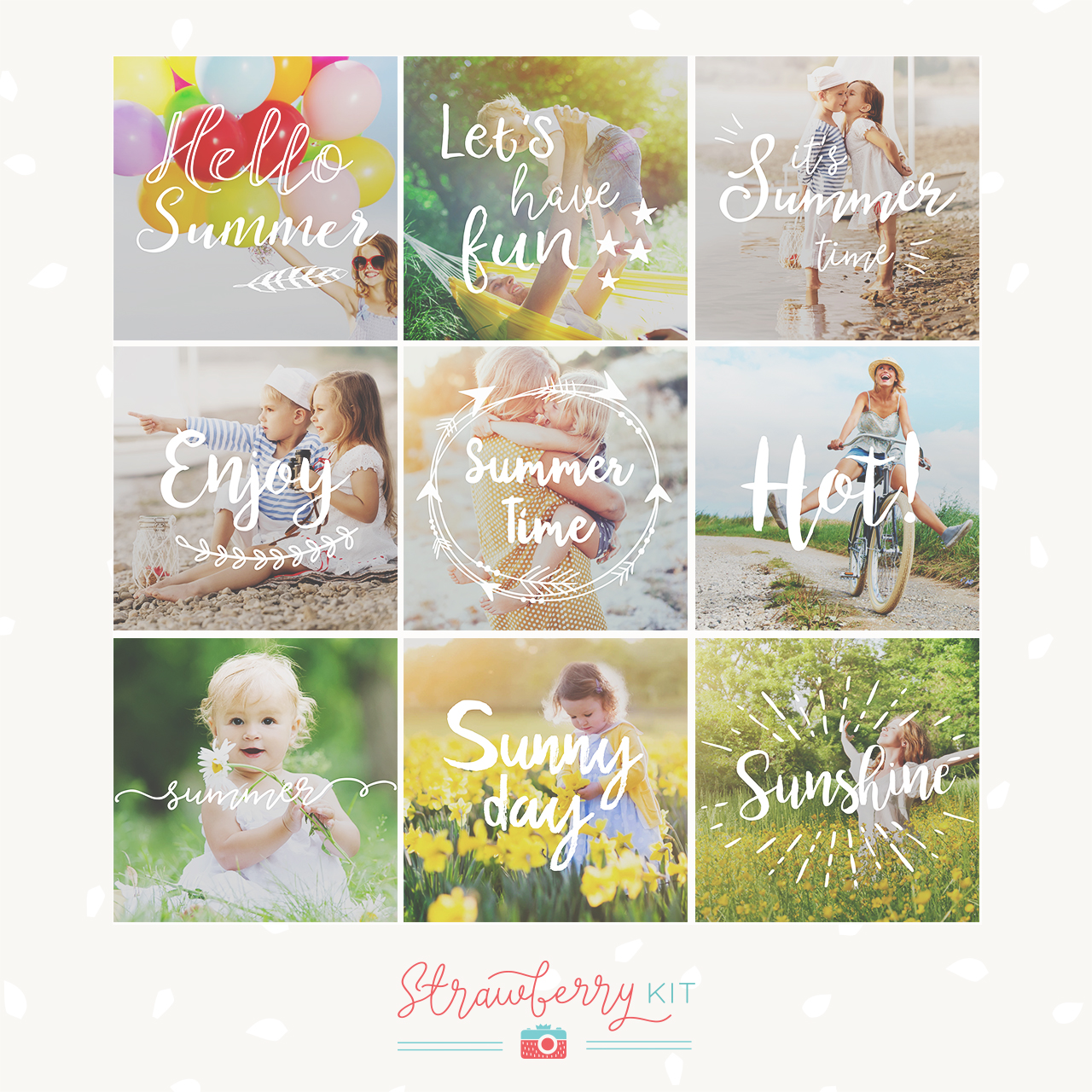 Summer Photography Overlays