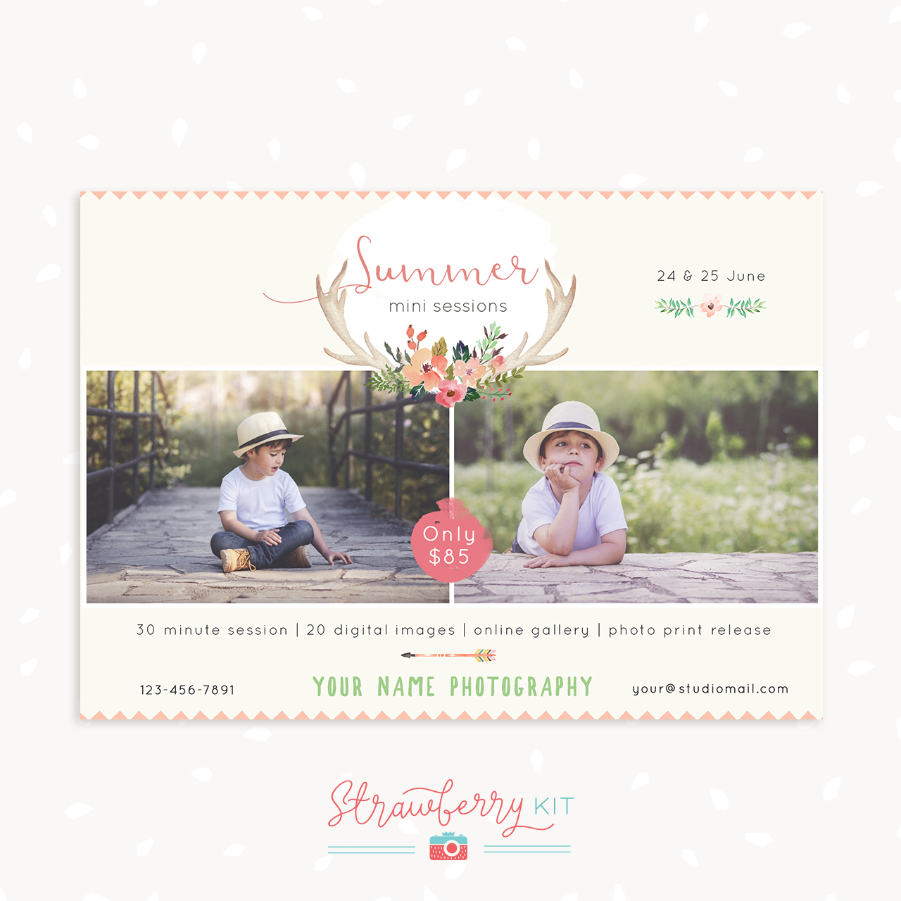 Tribal summer mini sessions template for photographers