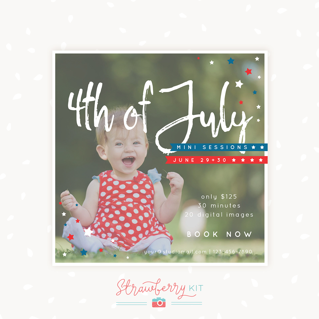 4th of July mini sessions template