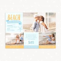Beach mini sessions collage template