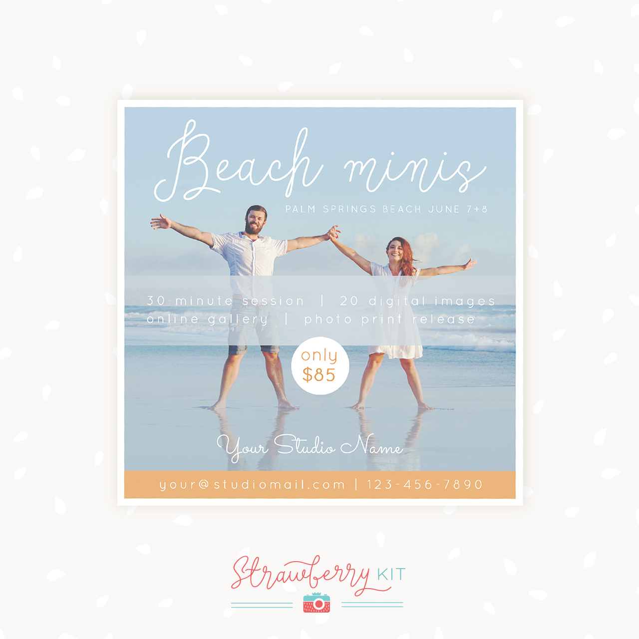 Beach mini sessions template