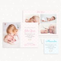 Birth Announcement Template Photography