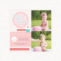 Cake Smash Photo Sessions Marketing Board