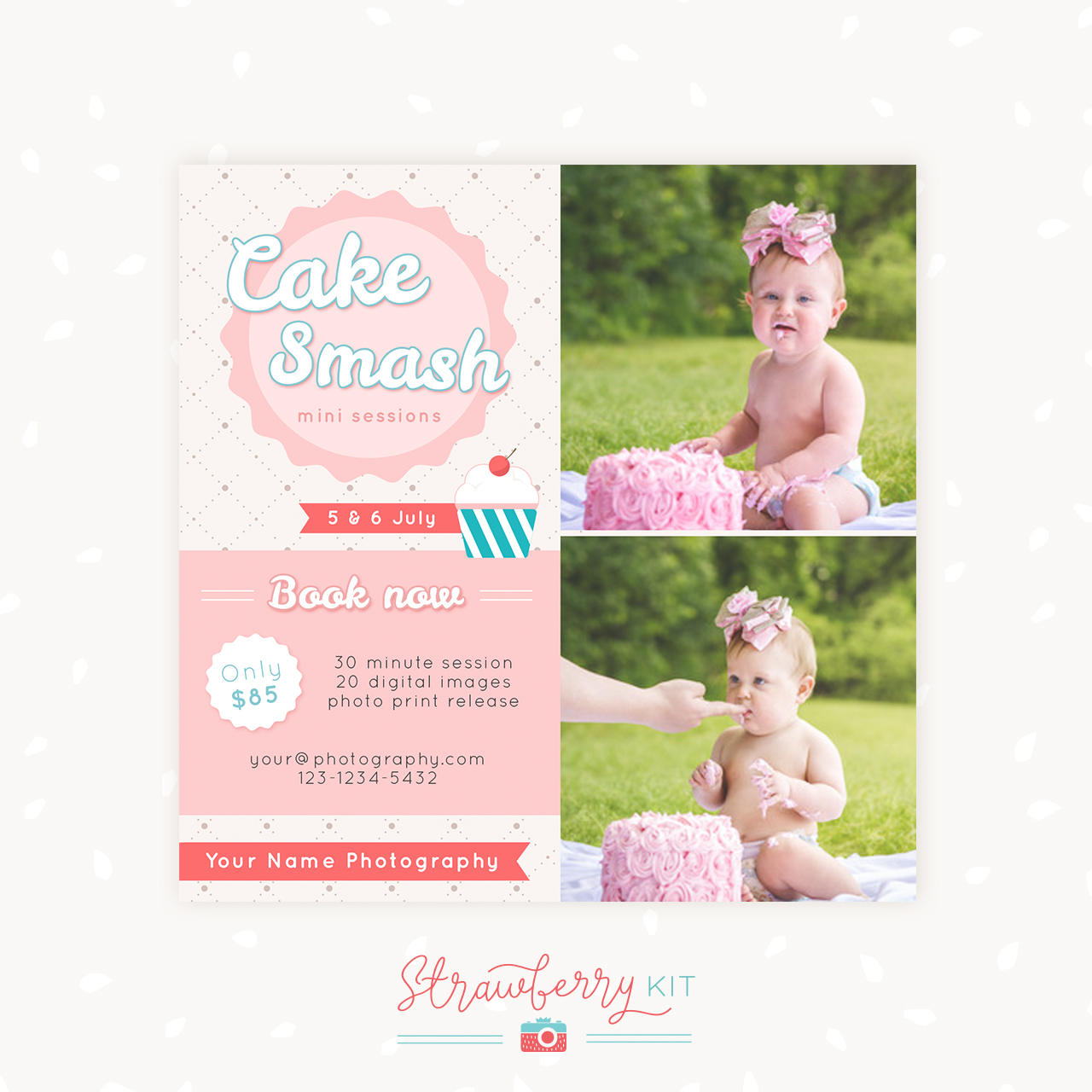Cake Smash Mini Sessions Template