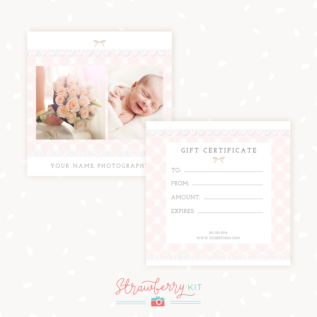 Lace Gift Certificate Template