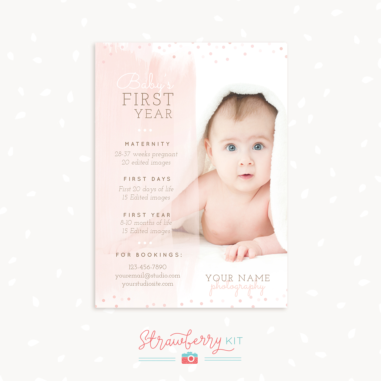 Baby First Year Package Template for Photographers