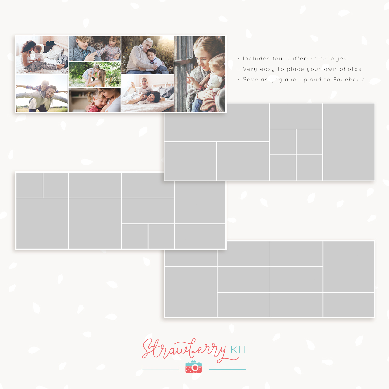 facebook cover photo collage template