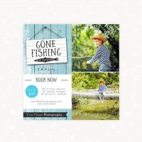 Gone fishing mini sessions template photography