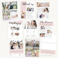 Hand Lettering Welcome Guide Template for Photographers