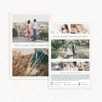 Photography Pamphlet Design Template (Photoshop)