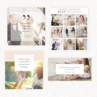 Social media templates photography