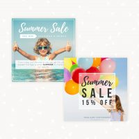 Summer marketing sale templates