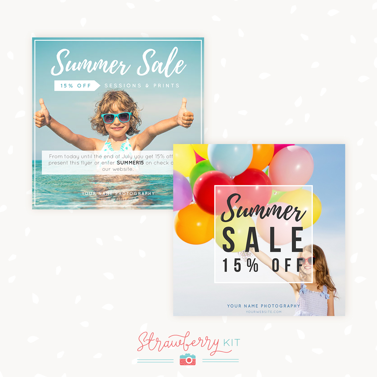 Summer sale marketing template for photographers