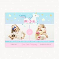 Unicorn photo sessions marketing template