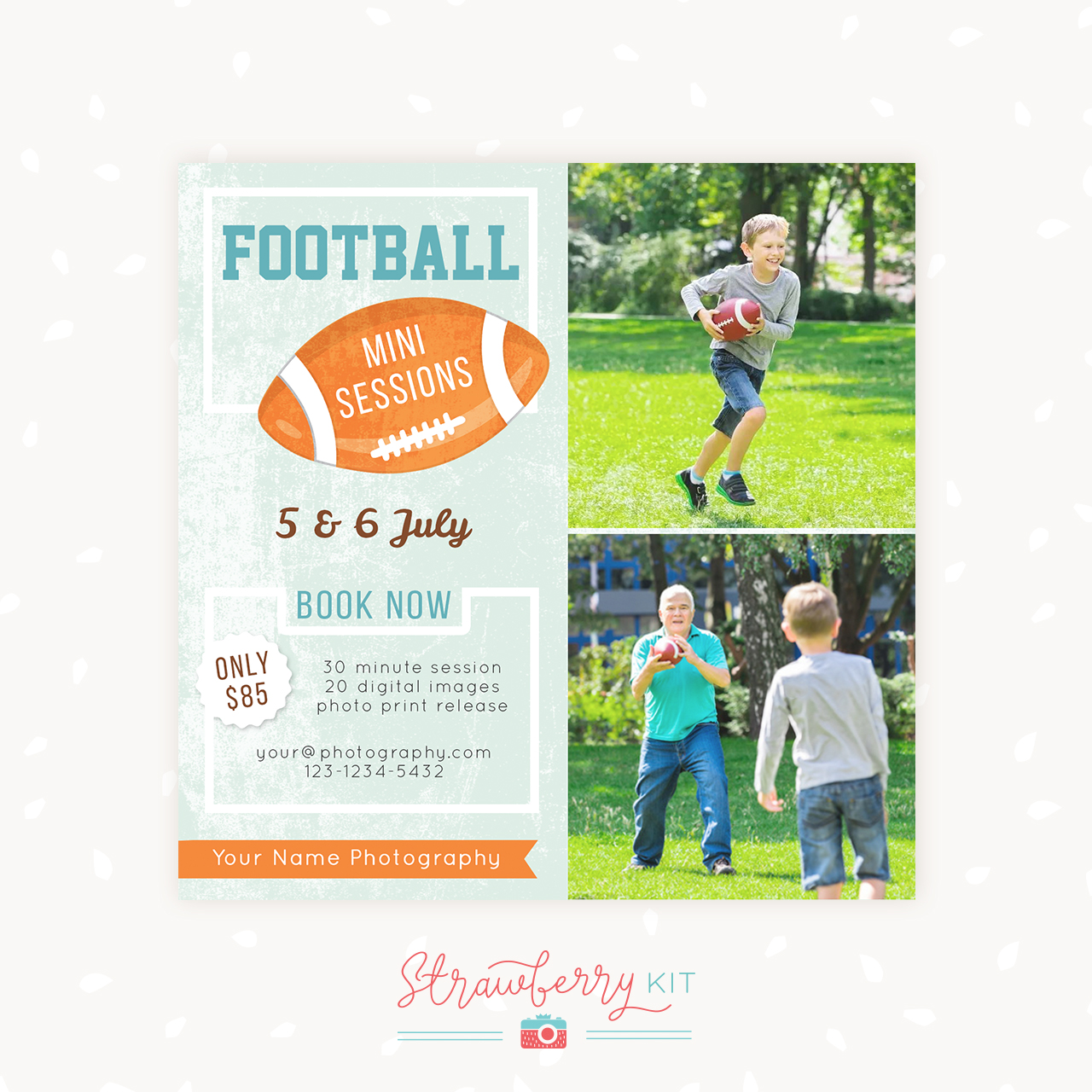 American Football Mini Sessions Template