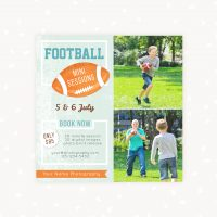 American Football Photo Sessions Marketing Template