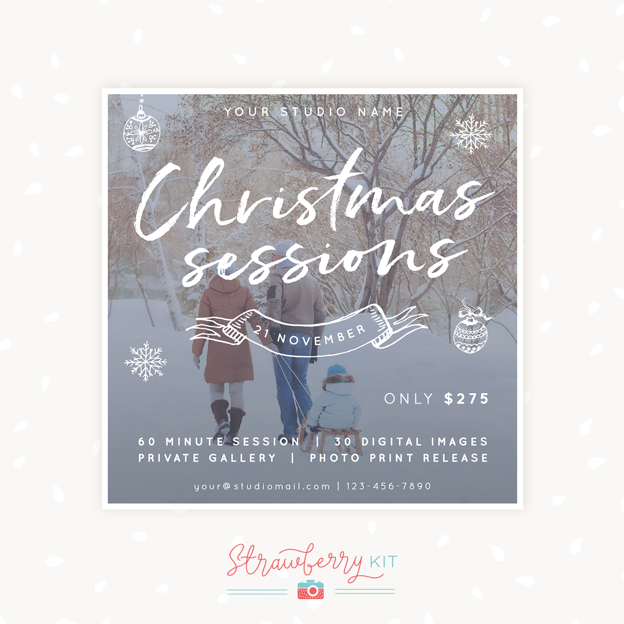 Christmas mini sessions photographers template