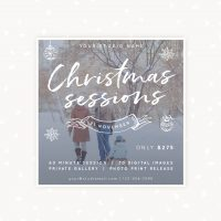 Christmas mini sessions square template