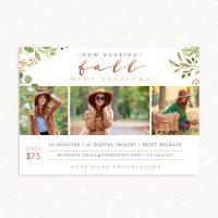 Fall mini sessions template photographers
