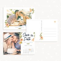 Floral Save The Date Card Template