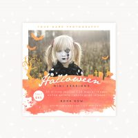 Halloween mini sessions template photography