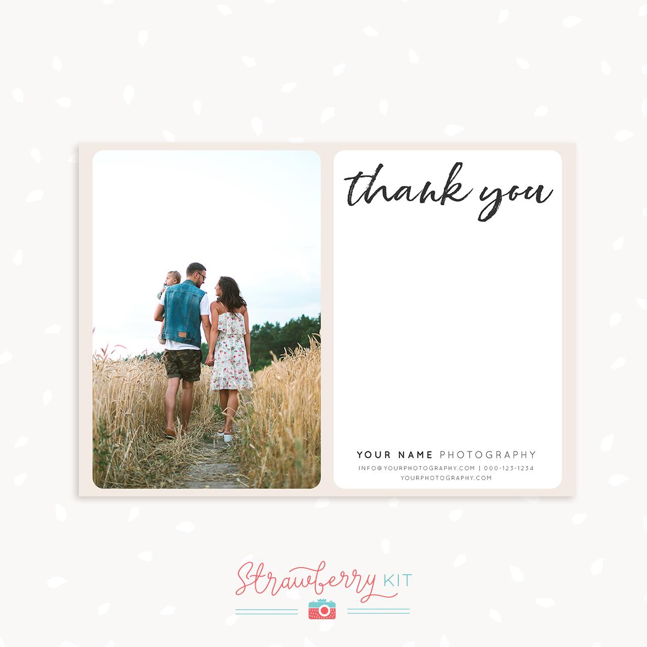 Handwritten Thank You Card Template Photographers