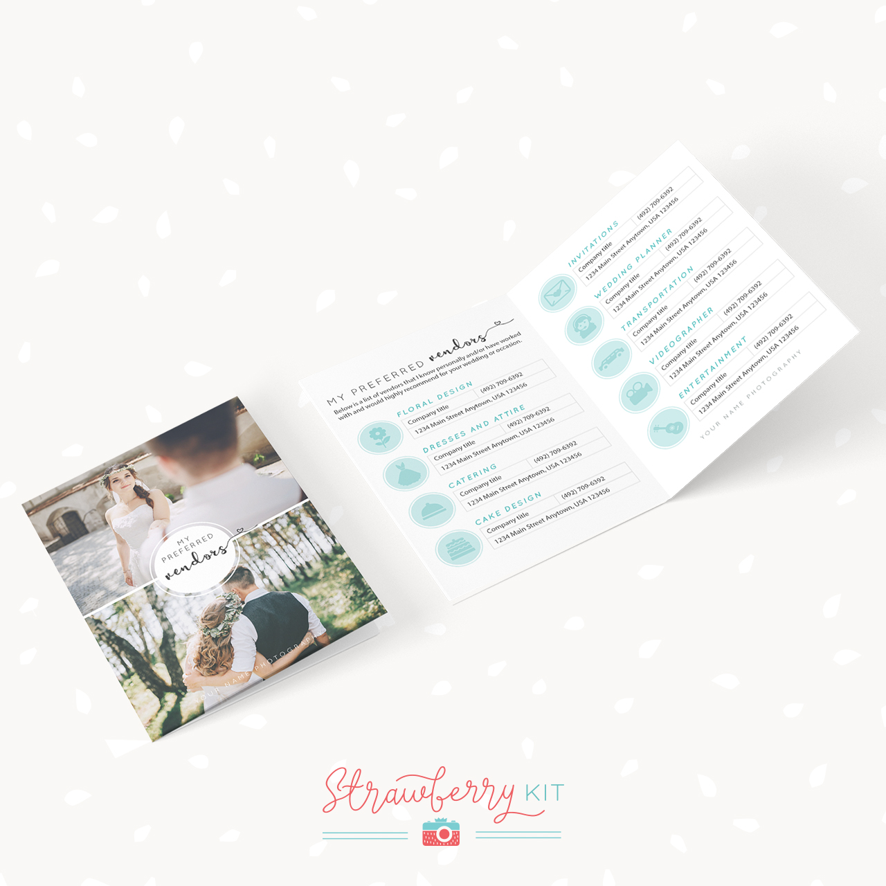 Preferred Vendors Card Template Photographers