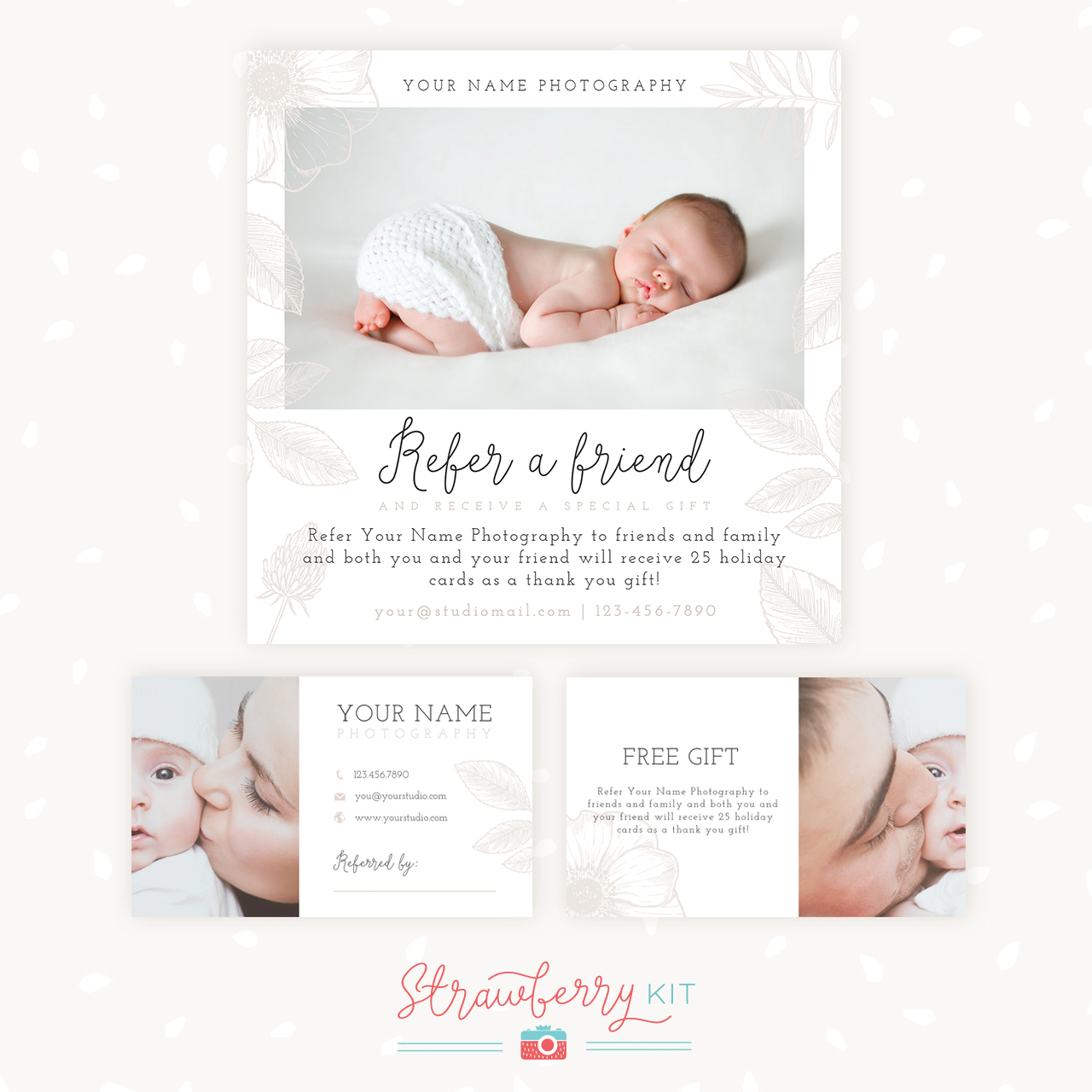 Refer A Friend Photography Template | Bonus business cards ...