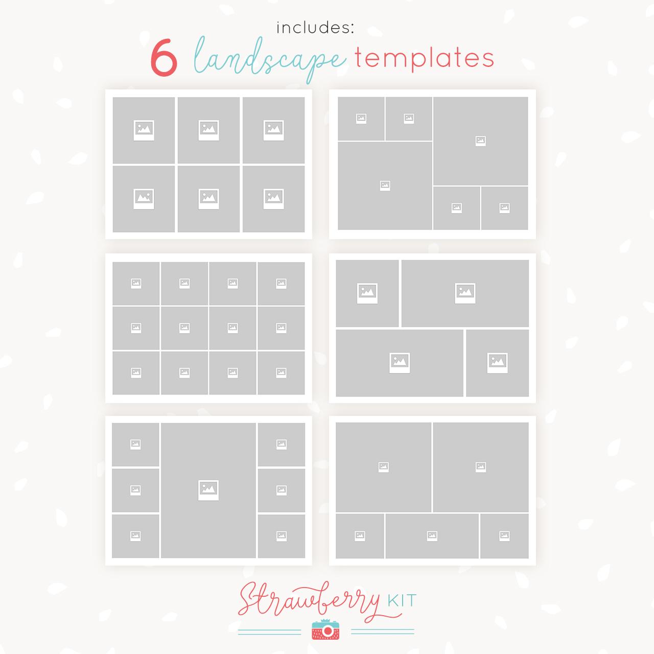 5x7 collage templates landscape