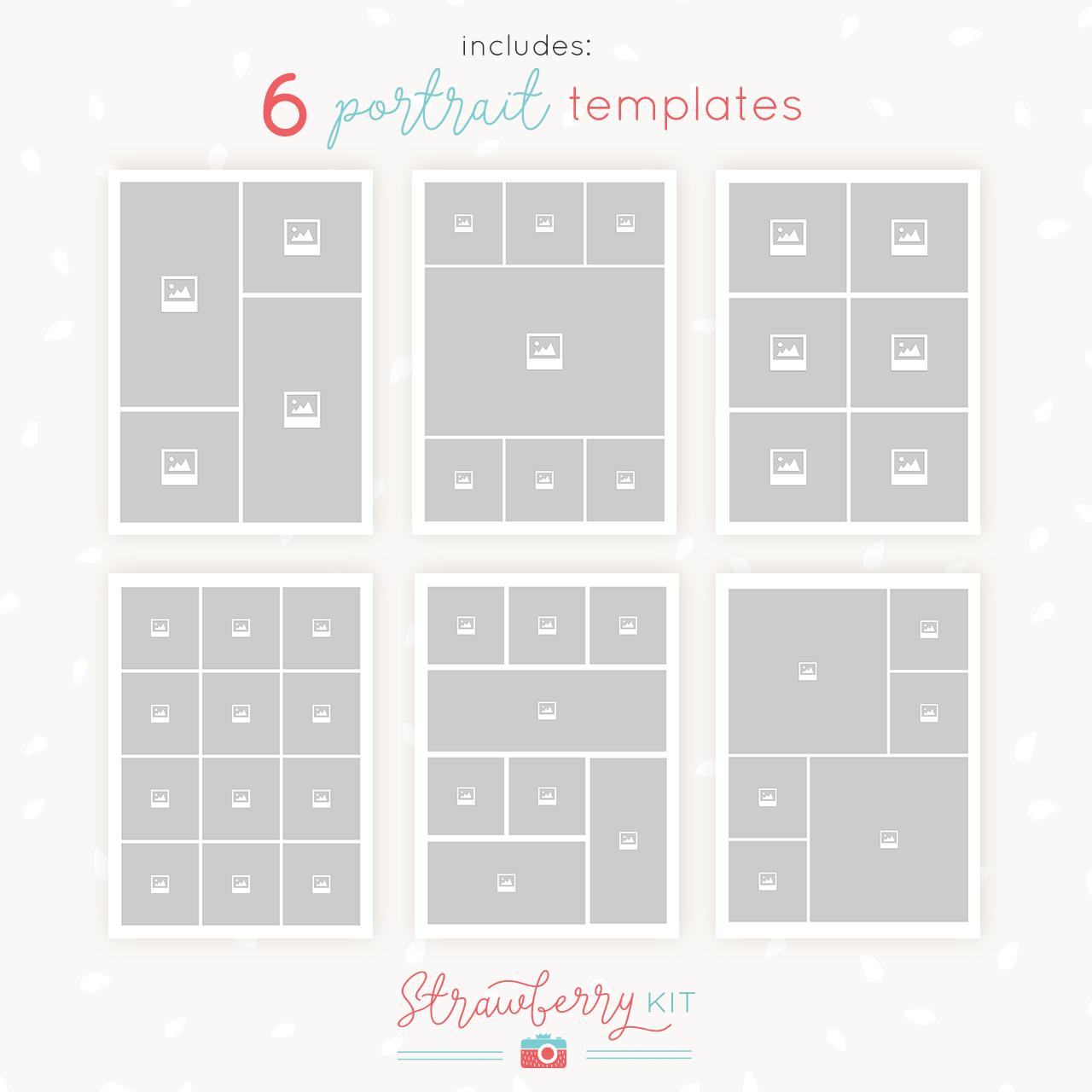 5x7 collage templates portrait