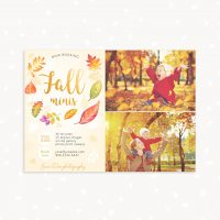 Autumn mini sessions template