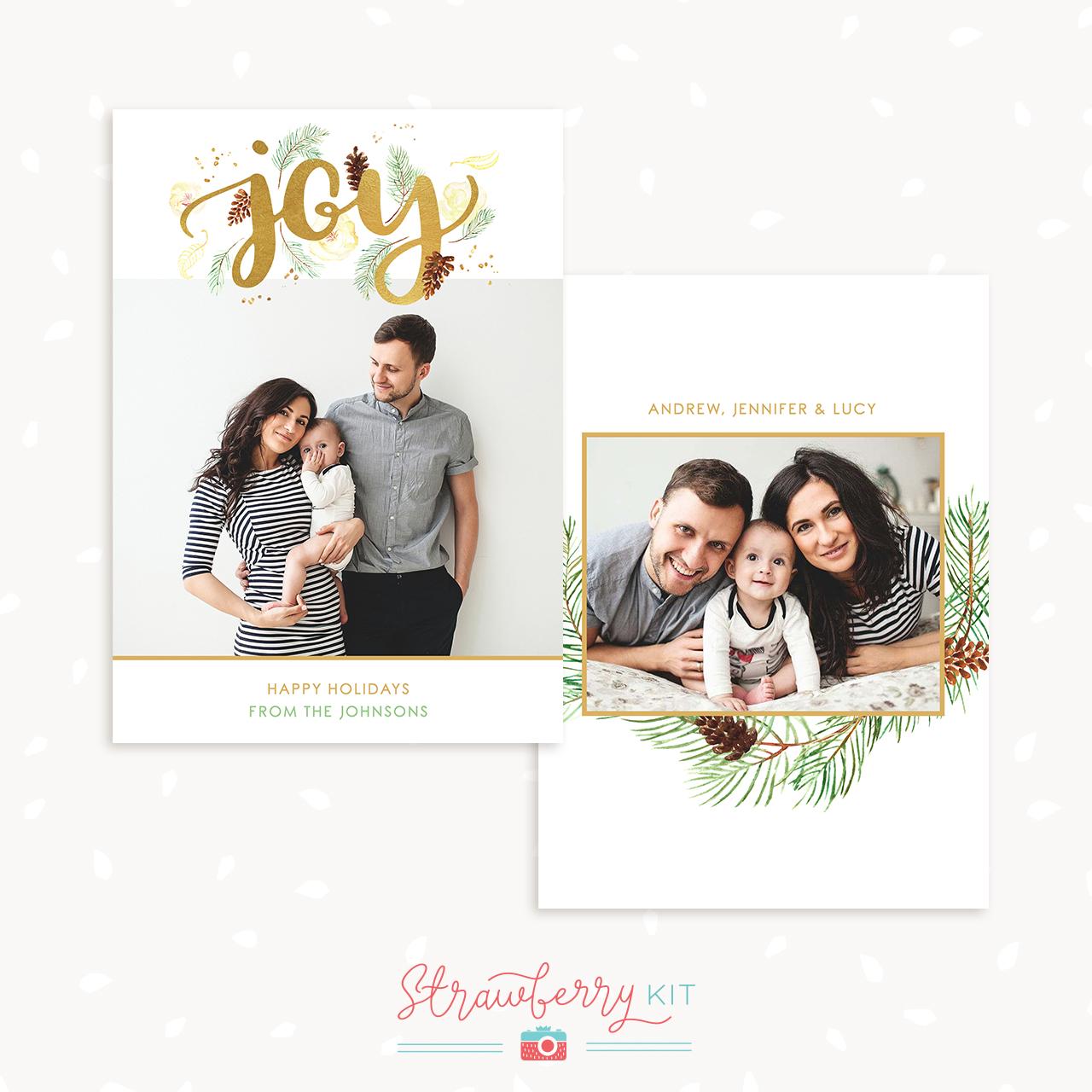Christmas Card Template Joy
