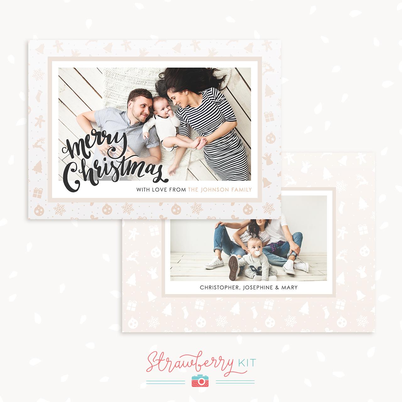 Christmas Card Template Photography