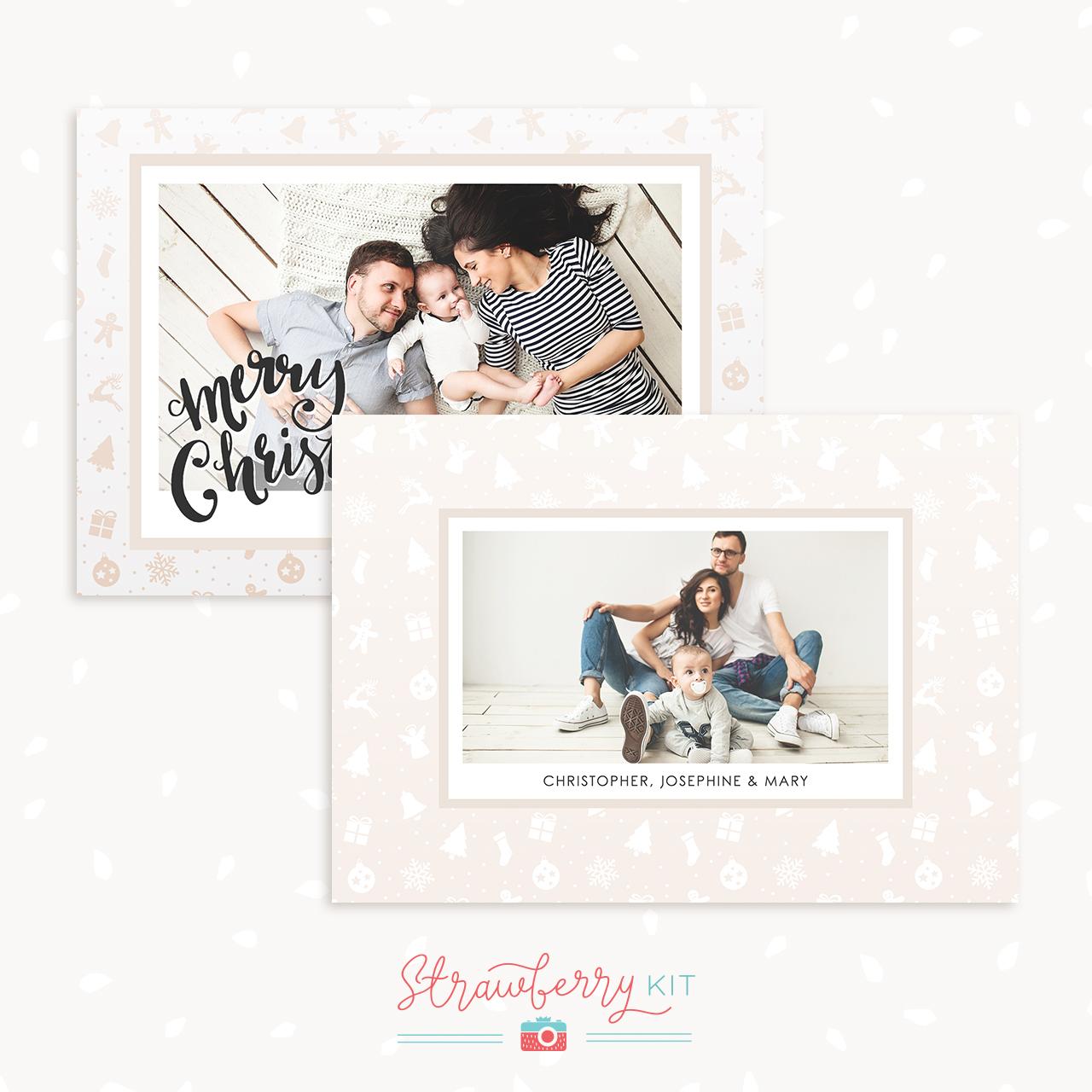 Christmas Card Template Photoshop Photographer