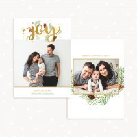 Christmas Photo Card Template Joy