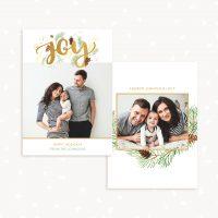 Christmas Photo Card Template Joy