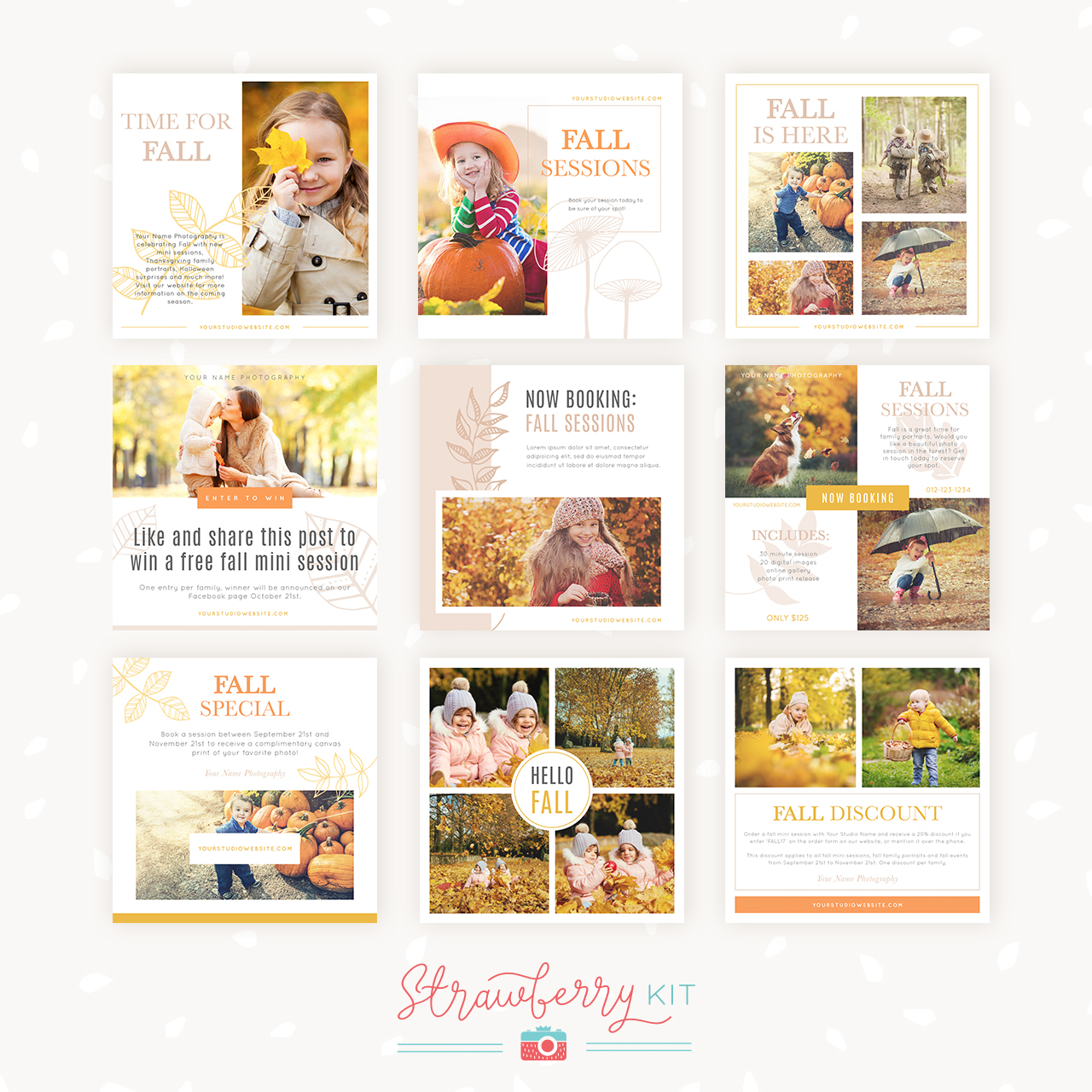 Fall Social Media Template Package