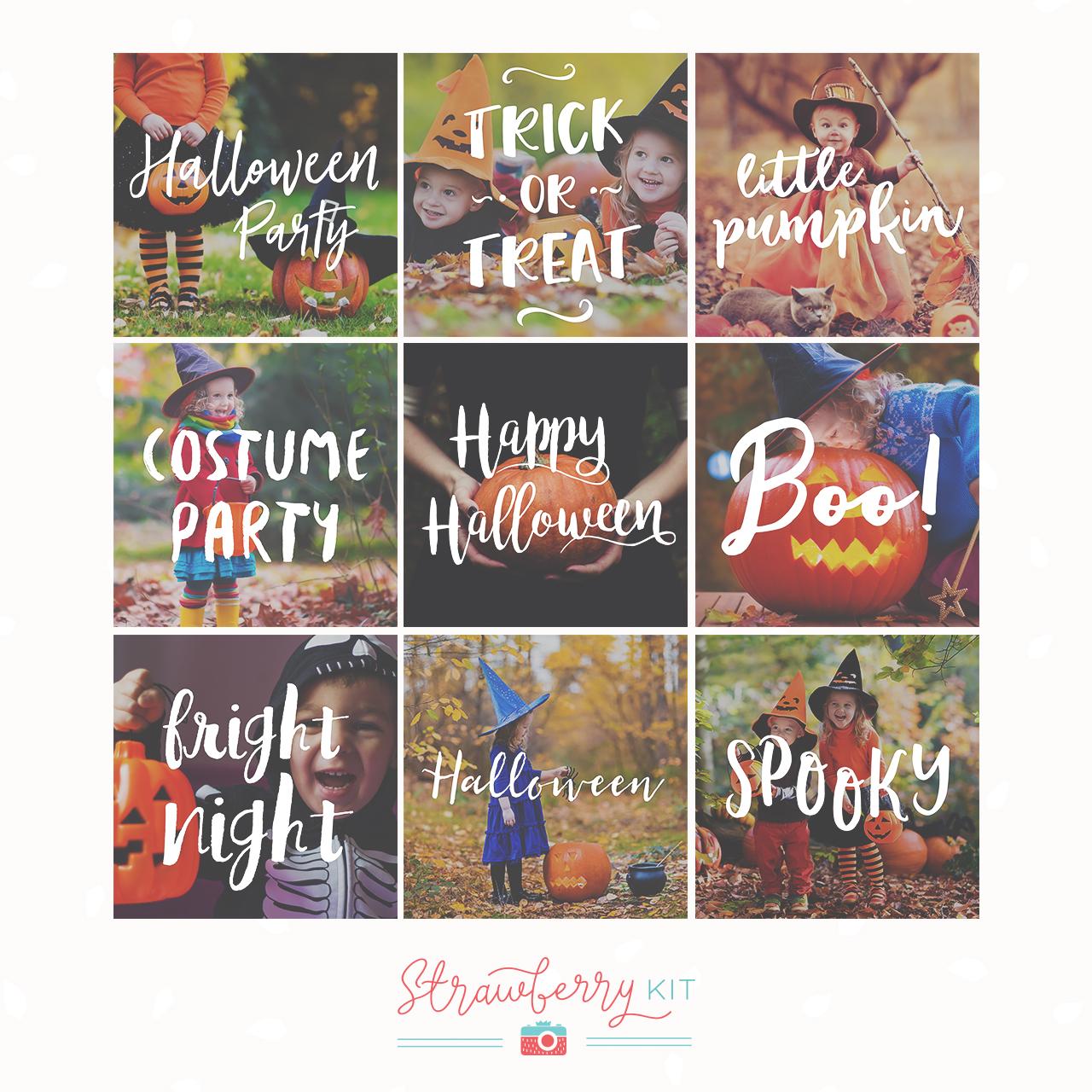 Halloween Text Overlays