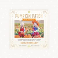 Pumpkin Patch Mini Sessions Template
