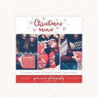 Christmas Mini Sessions Template red handlettered