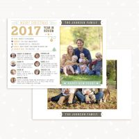 Christmas Year in review Photoshop template