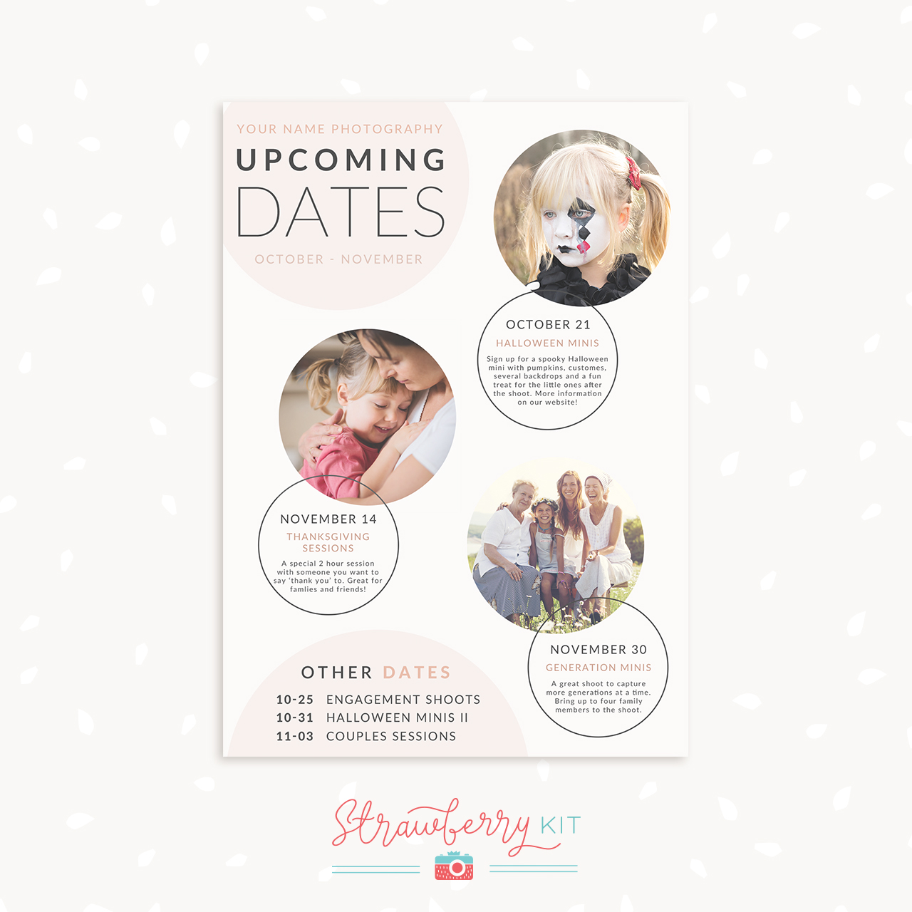 Circle photography template