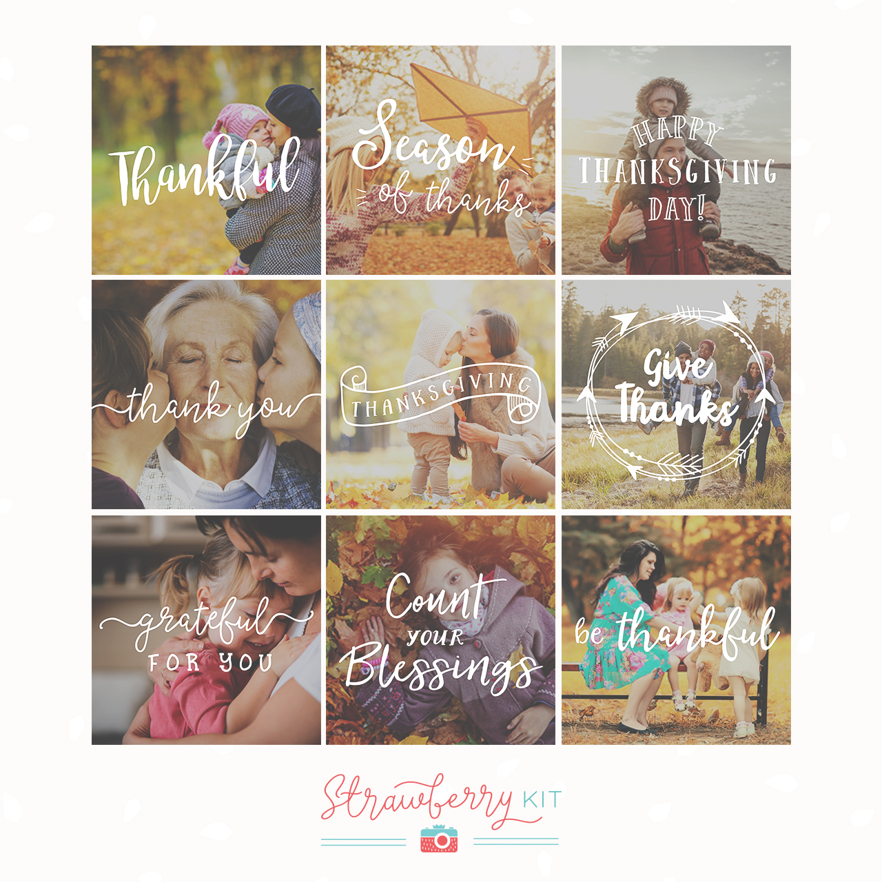 Thanksgiving Photography Overlays