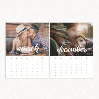 2018 monthly calendar printable photography