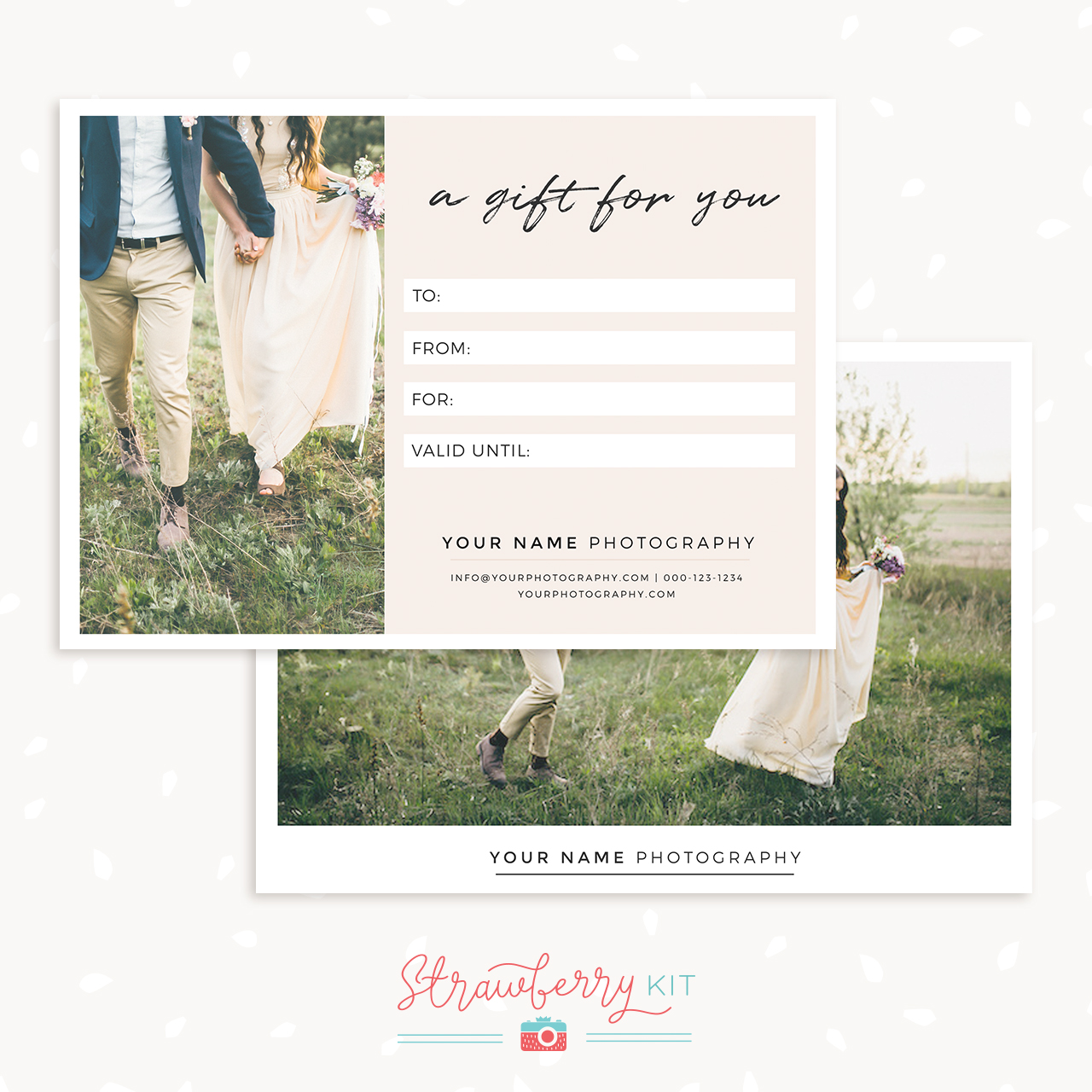 7 X 5 Gift Certificate Template Strawberry Kit