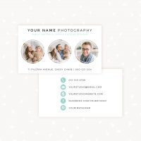 Circles social business card photography template