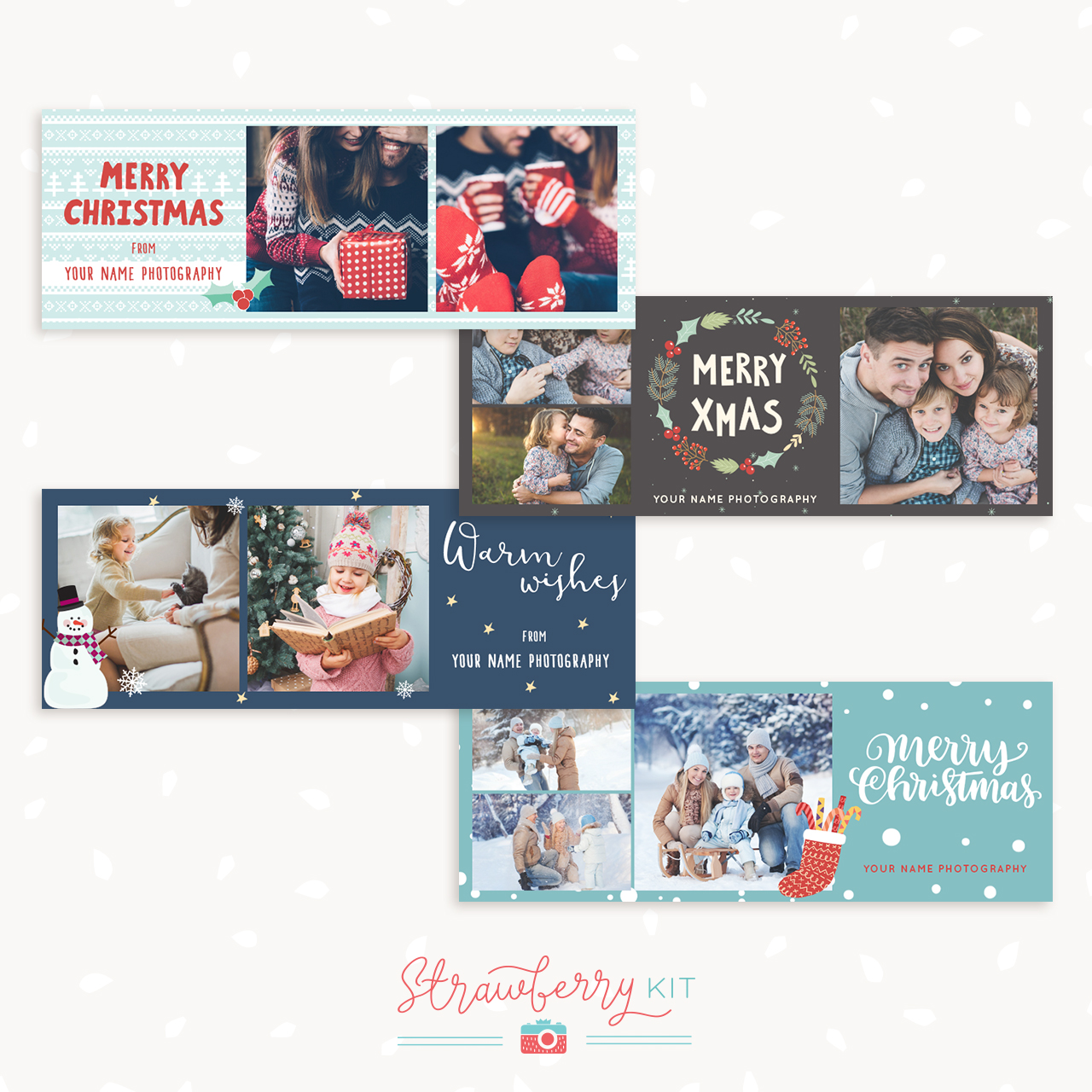 Christmas Facebook Banner Template Set \