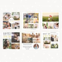 New Year Instagram Photography Social Media Templates