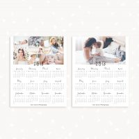 One Page Calendar Template Photography