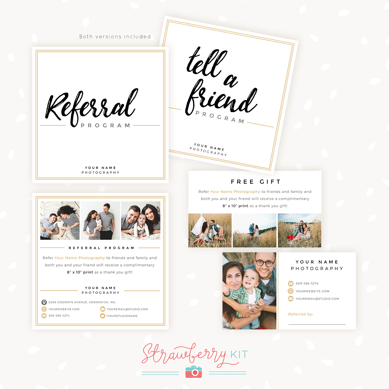 Photographer Referral Cards Templates